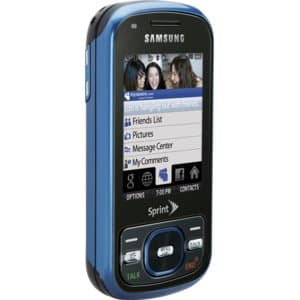 Samsung Exclaim M550 Blue