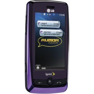 LG Rumor Touch Purple