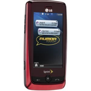 LG Rumor Touch Red