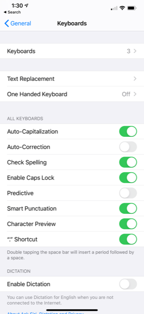 How to turn autocorrect off on iPhone