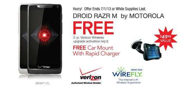 FREE Car Dock with DROID RAZR M purchase