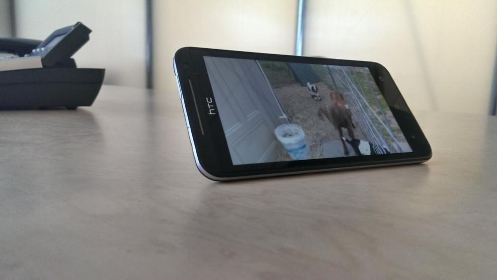 Watching A Video With The Kickstand On The HTC EVO 4G LTE Smartphone