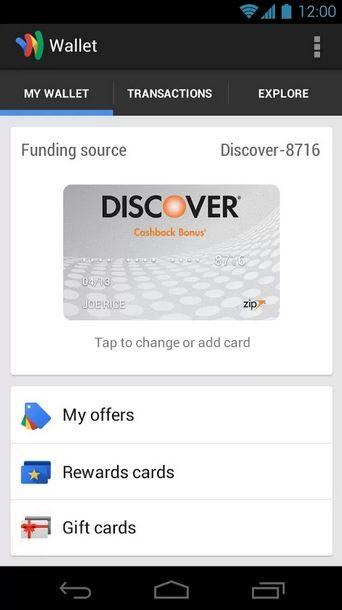 Google Wallet With Active Credit Card