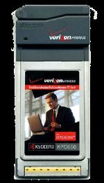 Kyocera KPC650 EVDO PC Card Gray