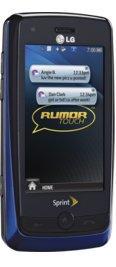 LG Rumor Touch Blue