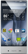 Sharp Aquos Crystal White