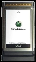 Sony Ericsson GC89 PCMCIA PC Cell WiFi Card Gray
