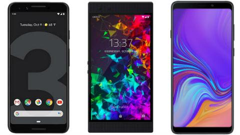 new-smartphones-galaxy-a9-razer-phone-2-pixel-3