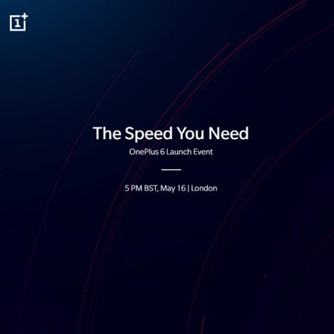OnePlus 6 to be unveiled on May 16