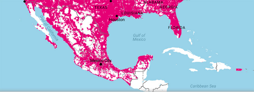 TMobile Coverage Map Wirefly - T mobile coverage map florida