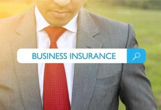 businessman searching for business insurance in searchbar